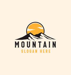 Mountain adventure and outdoor vintage logo vector