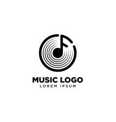 Music logo template icon logo design vector