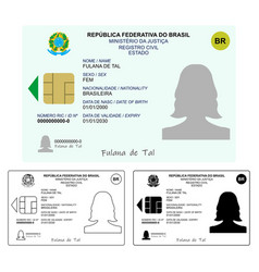 New id card only graphical representation without vector