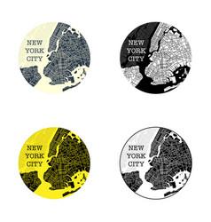 new york city symbols vector image