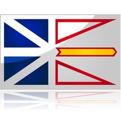 newfoundland and labrador flag vector image