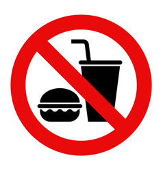 No food and no drinks allowed vector