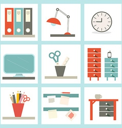 Office Supply Flat Design vector image