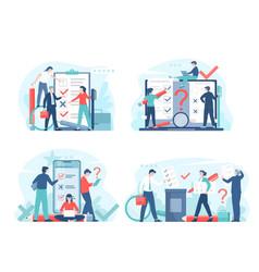 online voting or survey concept vector image