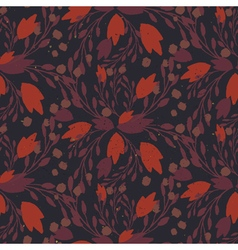 Organic floral pattern in muted warm colors vector image