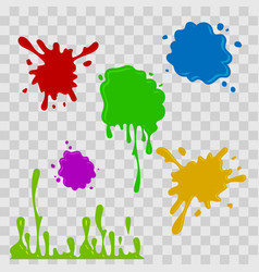paint drop abstract multicolor vector image