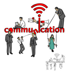 people with communication concept vector image
