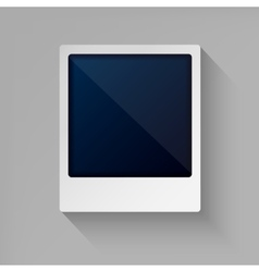 Photo frame in flat style vector image