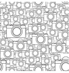Photographic camera seamless pattern vector
