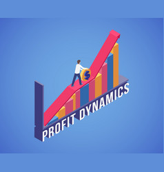 Profit dynamics banner template successful vector