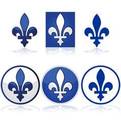 Quebec fleur-de-lys vector