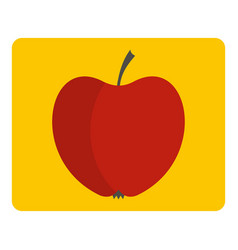 Red apple icon isolated vector