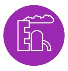 Refinery plant line icon vector