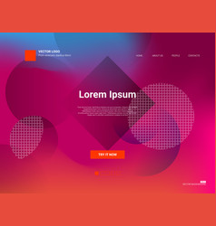 responsive landing page web template or apps vector image