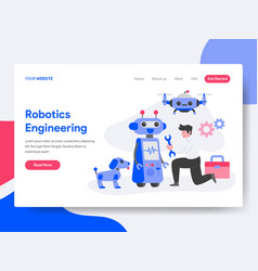 robotics engineering concept vector image