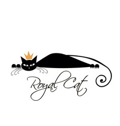 royal black cat design vector image