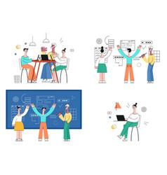 set of business development vector image