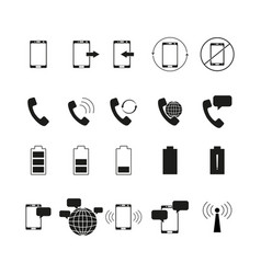 Set of telephone bussines icons vector