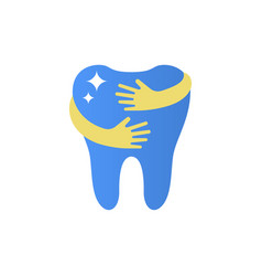 shining teeth logo sign vector image