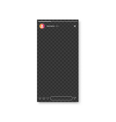stories screen interface in social media vector image