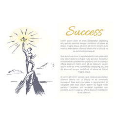 Success person and prize vector