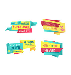 Super sale exclusive offer vector