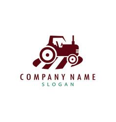 tractor logo vector image