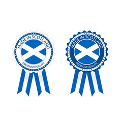 two modern made in scotland labels vector image