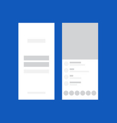 Web layout design for mobile template vector