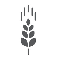 wheat ear glyph icon farming and agriculture vector image