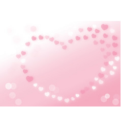white and pink heart background vector image