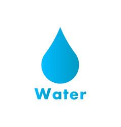 drop of water logo vector image