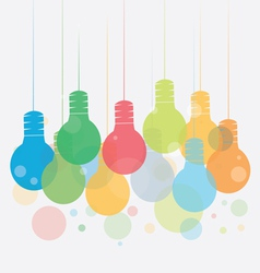 Idea concept with Colorful of hanging vector image
