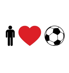 Men love football vector image