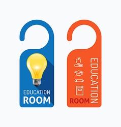 Paper door handle lock hangers concept education vector image