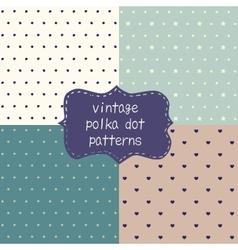 4 cute seamless polka dot patterns vector image vector image