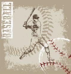 batter base ball crack vector image vector image