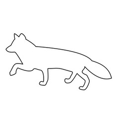 fox of silhouettes icon vector image vector image
