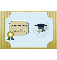 Gold Graduation Vintage Certificate vector image