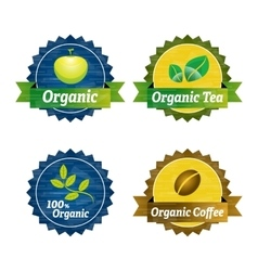 Organic food icons vector