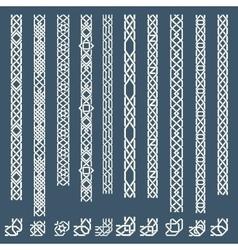 Seamless islamic ornamental borders vector image
