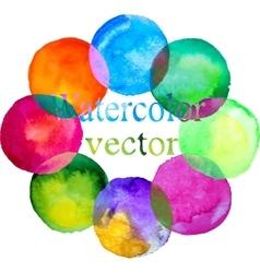 watercolor colorful circle set vector image
