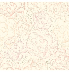 Abstract seamless flower texture vector image vector image