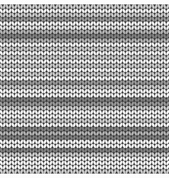 Dark Gray striped knitted background vector image