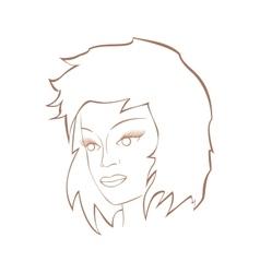 Face of a cute gir vector image