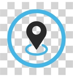 Geo targeting flat rounded icon vector