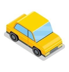 Yellow Car Icon vector image