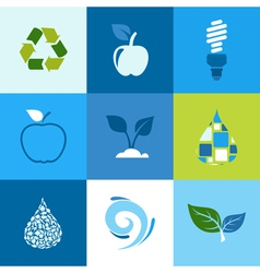 Ecology icon2 vector image