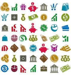 Money icons isolated on white background set vector image