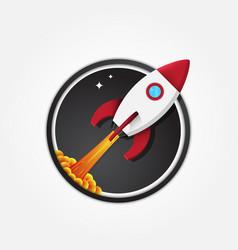 rocket icon logo vector image vector image